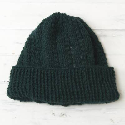 100% alpaca hat, Trujillo Teal