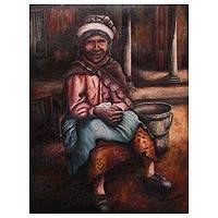 'Little Grandmother' (2011) - People and Portraits Realist Oil Painting (2011)