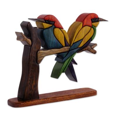 Wood Bird Sculpture