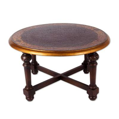 Fair Trade Peruvian Traditional Wood Coffee Table Antique Peru Novica