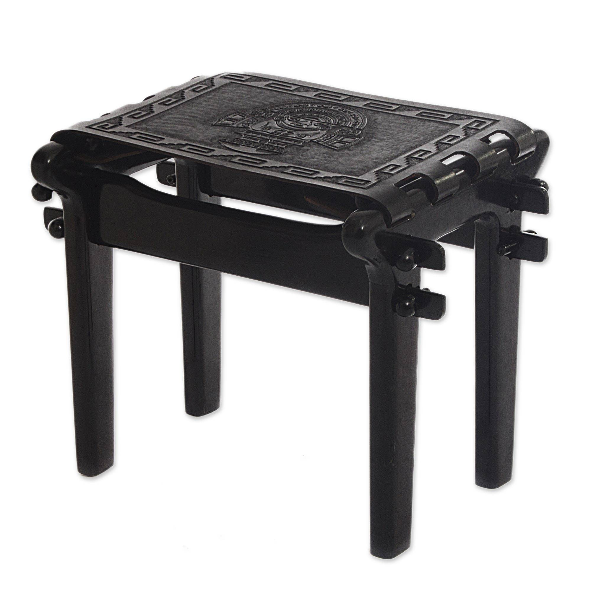 Handcrafted Black Tooled Leather Wood Stool from Peru - Nobility | NOVICA  sc 1 st  Novica & Handcrafted Black Tooled Leather Wood Stool from Peru - Nobility ... islam-shia.org