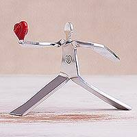 Aluminum sculpture, 'A Heart for Love'