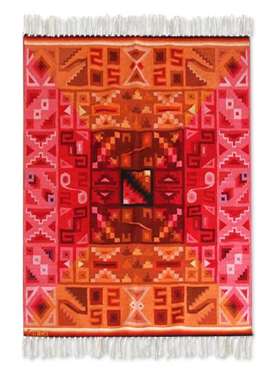 Wool rug (4x5.5)