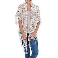 100% alpaca shawl, 'Andean Starlight'