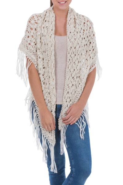 100% alpaca shawl, 'Andean Starlight' - 100% alpaca shawl