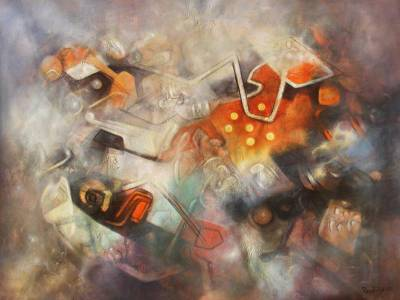 'Images from a Dream' (2012) - Original Painting Peru Surreal Art Signed Unframed