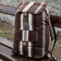 Alpaca blend backpack, 'Andean Lands' - Alpaca blend backpack