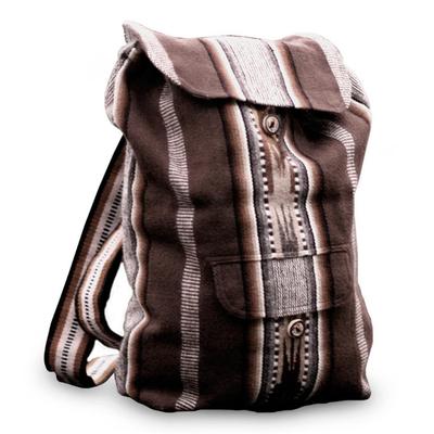 Novica Alpaca blend shoulder bag, Earth Song
