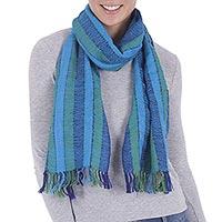 100% alpaca scarf, 'Serene' - 100% alpaca scarf