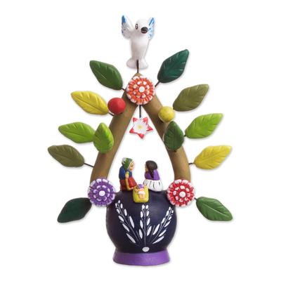 Ceramic nativity scene, 'Holy Birth I' - Ceramic nativity scene