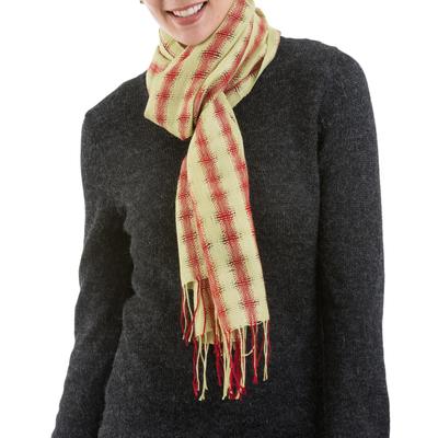 100% alpaca scarf, 'Sunset Sky' - 100% alpaca scarf