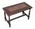 Mohena wood and leather coffee table, 'Colonial Foliage' - Wood Accent Table with Hand Tooled Leather Top thumbail