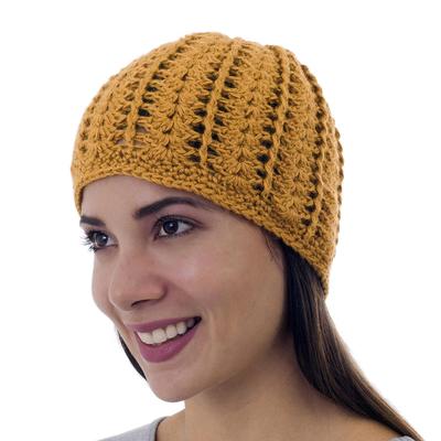 100% alpaca hat, 'El Dorado' - 100% alpaca hat
