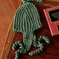100% alpaca chullo hat, 'Evergreen Spirals' - 100% alpaca chullo hat