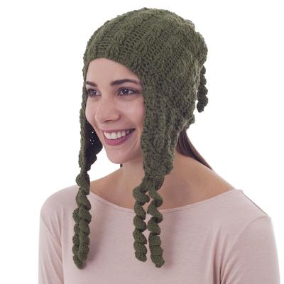 100% alpaca chullo hat