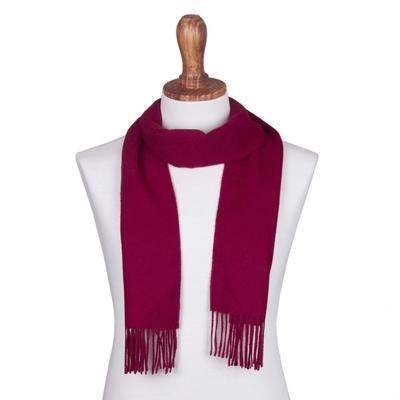Fair Trade Burgundy Red 100% Alpaca Wool Men