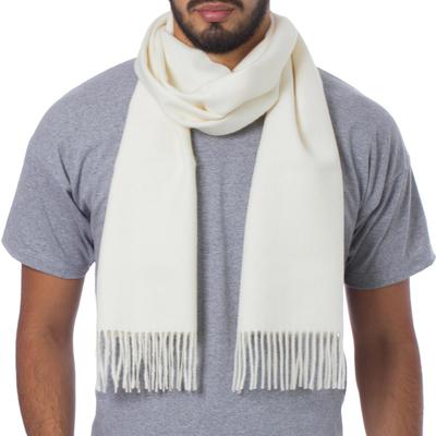 Unique Alpaca Wool Solid Scarf