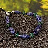 Sodalite and chrysocolla beaded bracelet, 'Harmony of Peace' - Sodalite and chrysocolla beaded bracelet