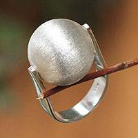 Sterling silver cocktail ring, 'Fortune Teller' - Fair Trade Sterling Silver Cocktail Ring
