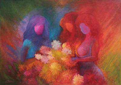 'Tropical Garden' - People and Portraits Expressionist Painting