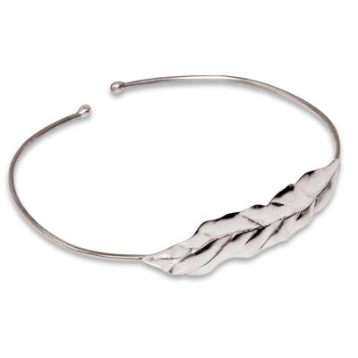 Handcrafted Fine Silver Cuff Bracelet