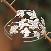 Silver cuff bracelet, 'Munay' - Fine Silver 950 Handmade Cuff Bracelet