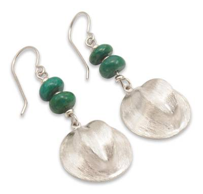 Chrysocolla dangle earrings