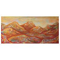 'Warm Mountains' - Landscape Expressionist Painting