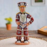 Ceramic figurine, 'Peruvian Scissors Dancer' - Ceramic figurine