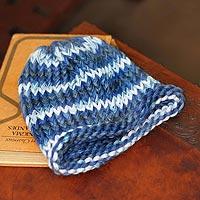 100% alpaca hat, 'Ocean Blue' - 100% alpaca hat