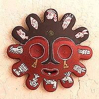 Ceramic mask, 'Ardent Sun' - Inca Style Ceramic Mask from Peru