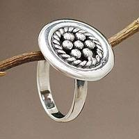 Sterling silver cocktail ring, 'Andean Dewdrops' - Sterling Silver Cocktail Ring