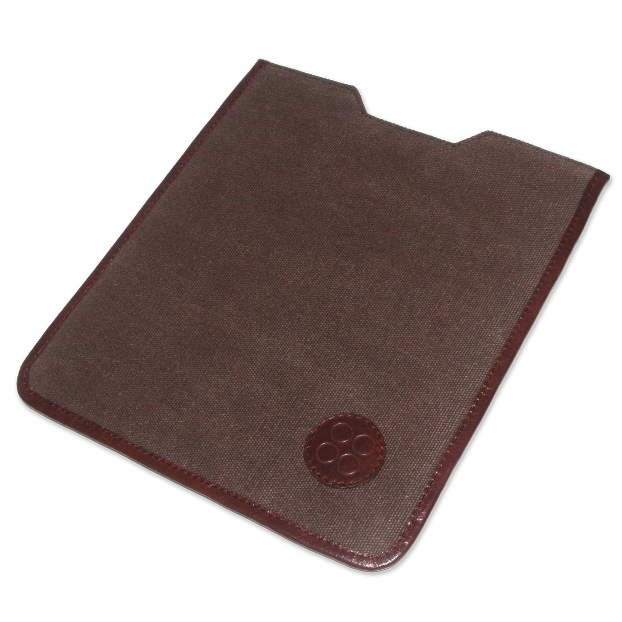 Novica Leather and cotton tablet sleeve, Versatility on the Go
