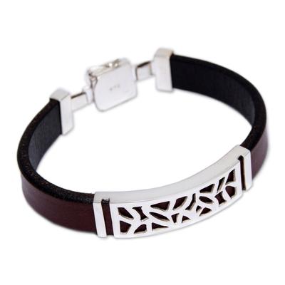 Men's leather bracelet, 'Evolution' - Men's leather bracelet