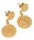 Gold vermeil dangle earrings, 'Spiral Medallions' - Fair Trade Vermeil Dangle Earrings (image 2a) thumbail
