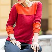 Alpaca blend sweater, 'Andean Sunset'