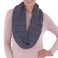 Alpaca blend neck warmer, 'Cozy Gray'