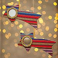 Holiday ornament, 'Star of the Family' (pair) - Holiday ornament (Pair)