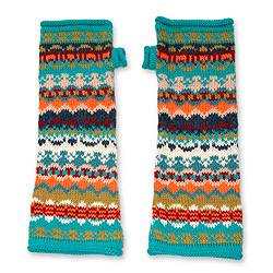 100% alpaca fingerless mitts, 'Ancash Fantasy' - Alpaca Wool Patterned Fingerless Mitt Gloves