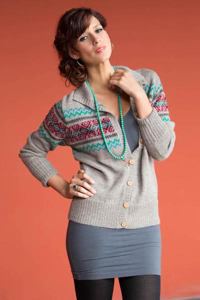 100% alpaca cardigan, 'Lima Sublime' - Alpaca Wool Button Up Cardigan Sweater