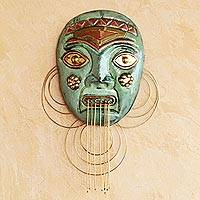 Copper and bronze mask, 'Amazon Chief'