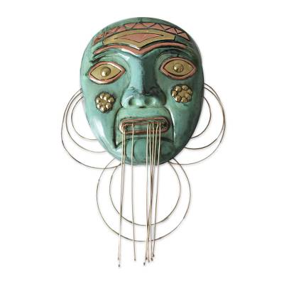 Copper and bronze mask, 'Amazon Chief' - Peruvian Copper and Bronze Mask