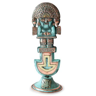 Bronze and copper sculpture, 'Noble Tumi' - Archaeological Bronze and Copper Sculpture