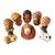 Ceramic nativity scene, 'L'il Nativity' (set of 9) - Folk Art Ceramic Figurines 9 Piece Nativity Set from Peru thumbail