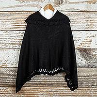 Featured review for Alpaca blend poncho, Arequipa Black