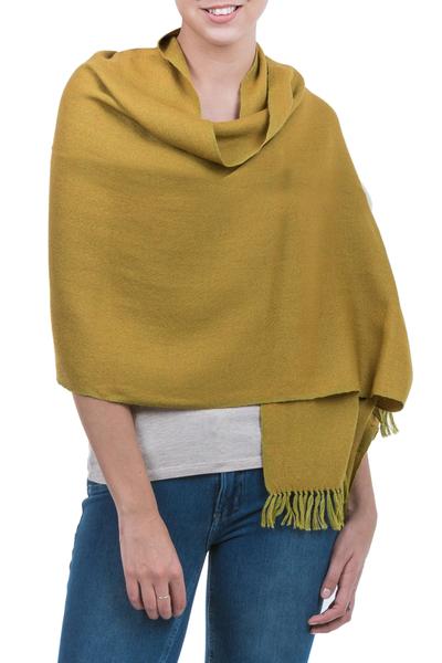 100% alpaca shawl, 'Caraz Energy' - 100% alpaca shawl