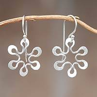 Sterling silver floral earrings, 'Sweet Harmony' - Floral Sterling Silver Dangle Earrings
