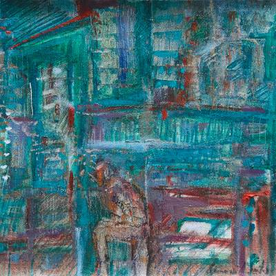 'Construction' - Abstract Expressionist Painting