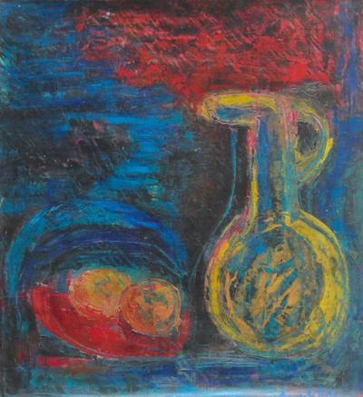 'Andean Culture' - Peru Fine Art Original Oil Expressionist Painting