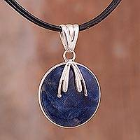 Sodalite pendant necklace, 'Cosmic' - Sodalite pendant necklace